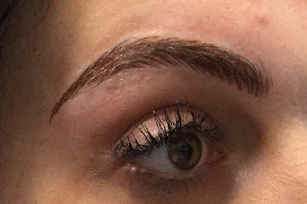 PhiBrows just after being done