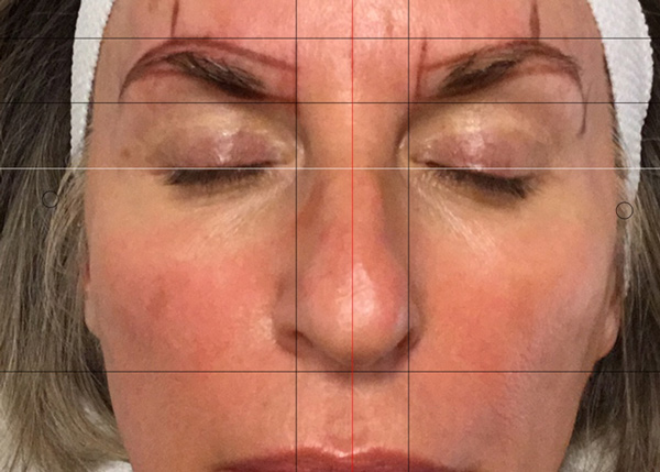During Phibrows Microblading